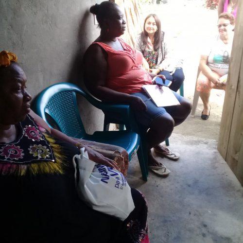 Socializacion del Red de Mujeres y Mariposas Libres, Tornabe, Tela Mes de Enero, 2018